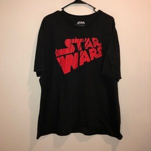 Star Wars Logo Graphic Tee Black and Red sith